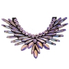 Crystal Motifs Necklace Angel Champagne